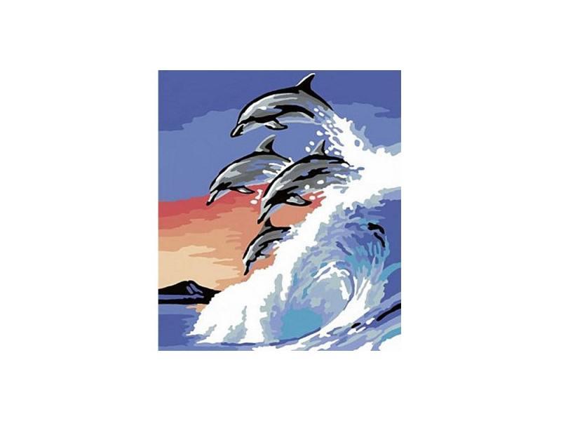 Набор для творчества Ravensburger Раскрашивание по номерам Дельфины набор для творчества ravensburger раскрашивание по номерам кофе