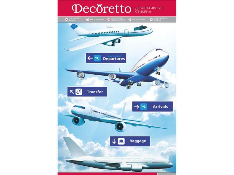 Наклейки для стен Decoretto Самолеты YI 5001