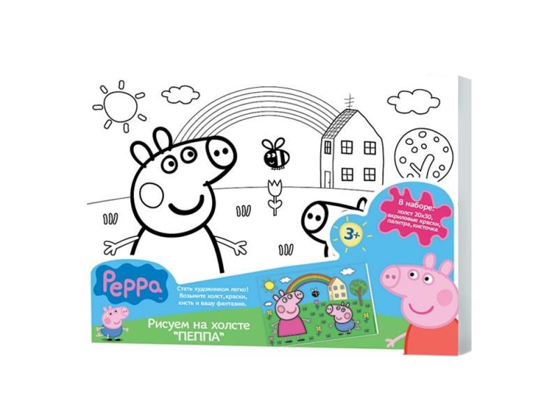Набор для творчества Peppa Pig Роспись по холсту (20х30 см.) 24675