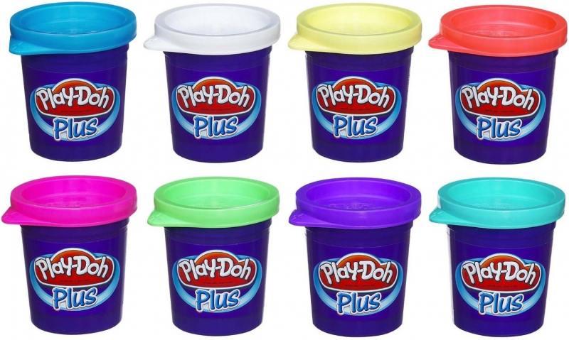 Набор для лепки Hasbro Play-Doh Plus 8 баночек набор для лепки hasbro play doh цвета и формы 8 цветов