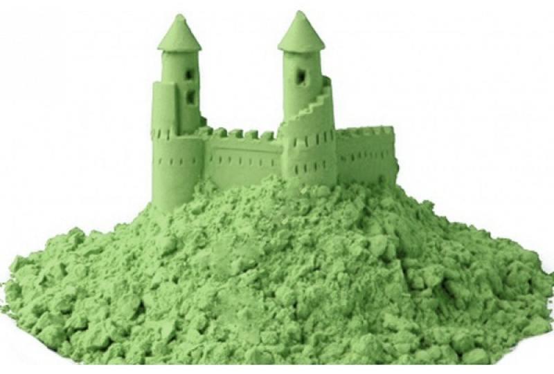 Песок 1 Toy Космический песок Зелёный 3 кг с песочницей и формочками Т58583