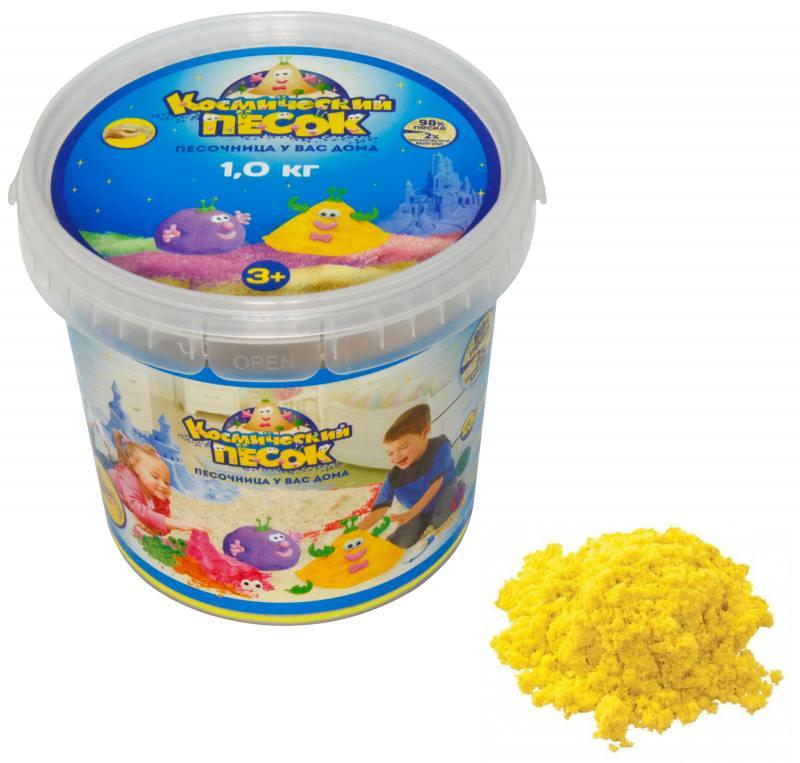 Купить Песок 1 Toy Космический песок Жёлтый 1 кг Т57734, 1toy, Лепка и товары для творчества