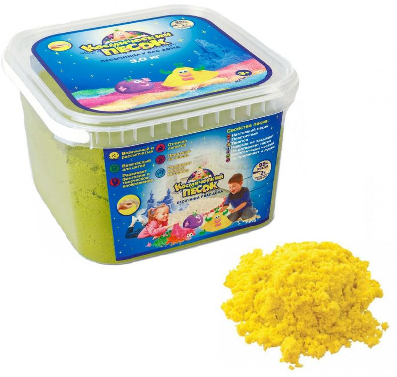 Песок 1 Toy Космический песок Жёлтый 3 кг Т58518 роботы transformers трансформеры 5 делюкс когман