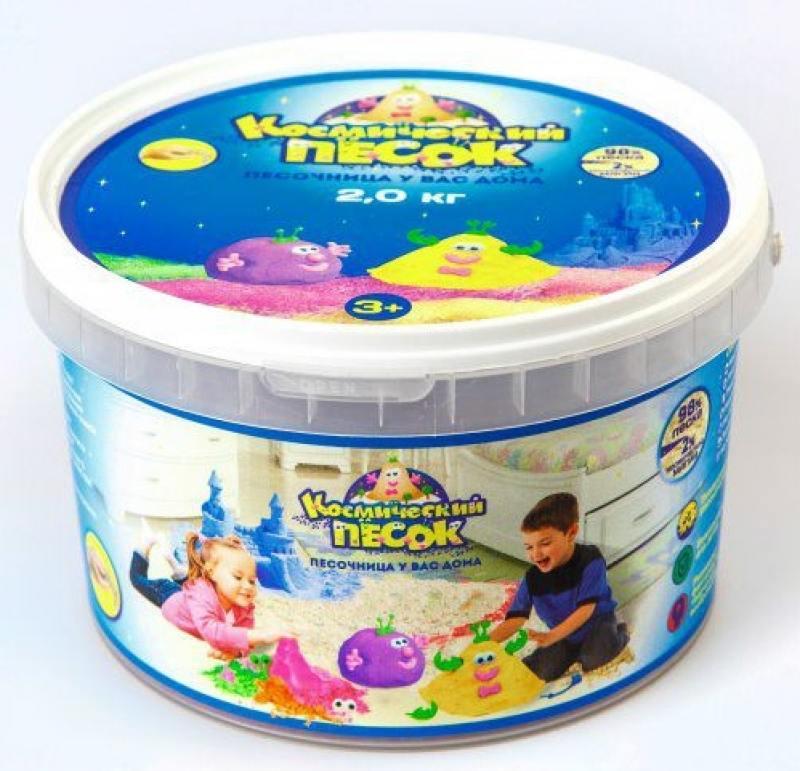 Песок 1 Toy Космический песок Голубой 2 кг  Т58511 электромобили 1 toy бмв х5м