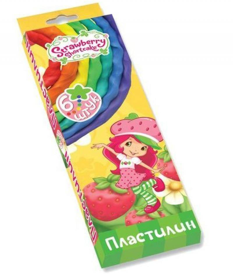Пластилин ACTION! STRAWBERRY SHORTCAKE, 6 цв, 60 гр, карт.уп. с е/подвесом, 2 дизайна 1 pcs fashion cute dimensional flowers baby hairpins girls hair accessories children headwear princess barrette kids hair clips