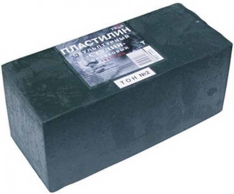 Пластилин скульптурный СТУДИЯ, оливковый, твердый, 1 кг