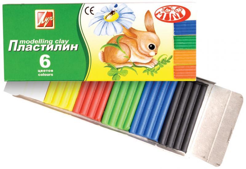 Пластилин /ЗОО/ (МИНИ), 6 цв, в карт. уп-ке рамка для фотографии лев и львицы 2 в 25 4 см цв уп 1263256