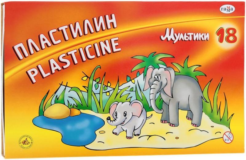 Купить Пластилин МУЛЬТИКИ со стеком, 18 цв., 360 г, Гамма, Лепка и товары для творчества