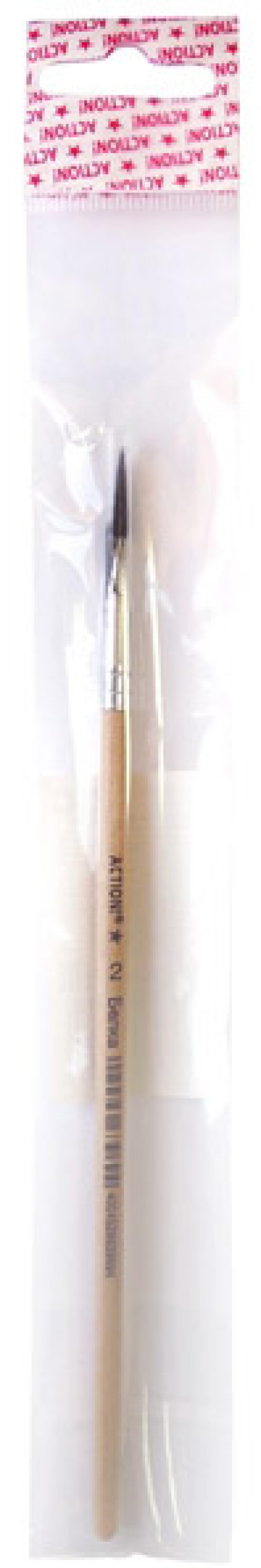Кисть БЕЛКА, живописная, круглая, имитация, № 2 roubloff кисть 1а10 белка круглая 2 короткая ручка