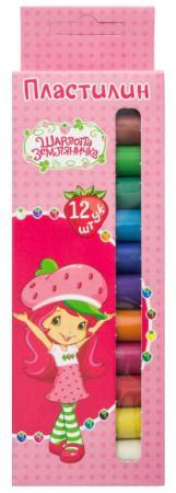 Пластилин action! strawberry shortcake, 12 цв, 120 гр, карт.уп. с е/подвесом