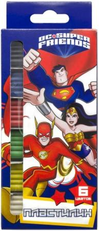 Пластилин ACTION! DC COMICS, 6 цв, 120 гр,, уф-лак, карт.уп. с е/подвесом