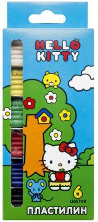 Пластилин ACTION! HELLO KITTY, 6 цв, 120 гр,, уф-лак, карт.уп. с е/подвесом полесье набор игрушечной посуды алиса pretty pink 40657 цвет в ассортименте