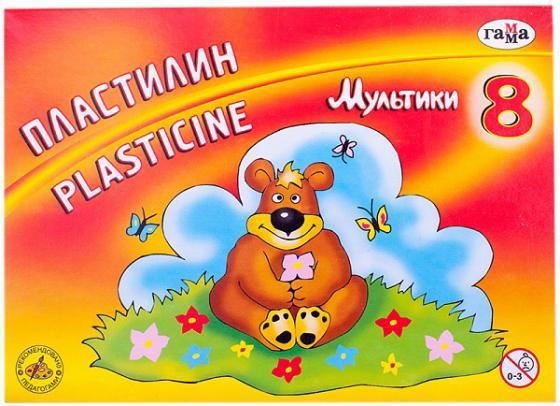 Купить Пластилин Гамма МУЛЬТИКИ П со стеком, 8 цв., 160 г, Лепка и товары для творчества