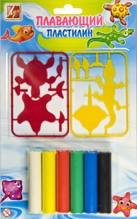 Пластилин плавающий Луч с пластмассовыми деталями, 6 цв., 84гр с европодвесом
