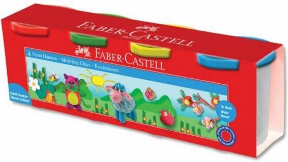 Масса для лепки Faber-Castell 120048 4цв. 520гр