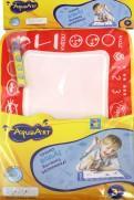 1toy AquaArt коврик д.рис. с вод.марк., моноцветный красный,30х45см,пакет 53х33х0,5 см.