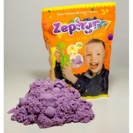 Купить Кинетический пластилин Zephyr -фиолетовый (0, 3 кг/дой-пак) (извините, гиперссылка на картинку отсут, Лепка и товары для творчества