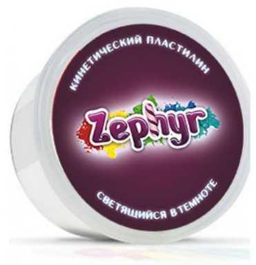 Кинетический пластилин Zephyr-светящийся в темноте (0,150 кг в банке) (извините, гиперссылка на ка спрей светящийся в темноте 100 г