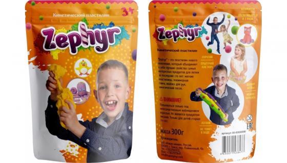 Купить Кинетический пластилин Zephyr -оранжевый (0, 3 кг/дой-пак) (извините, гиперссылка на картинку отсутс, Лепка и товары для творчества