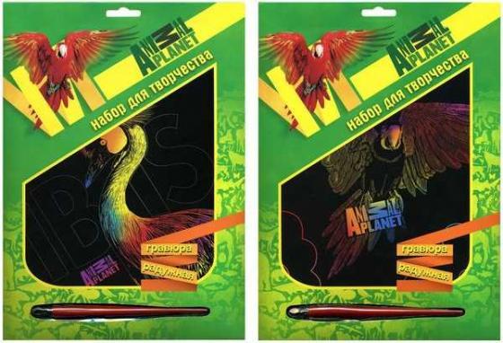 Купить Набор д/творчества ACTION! ANIMAL PLANET, Гравюра радужная, 20*26см, коробка с е/п, 2 дизайна, Лепка и товары для творчества