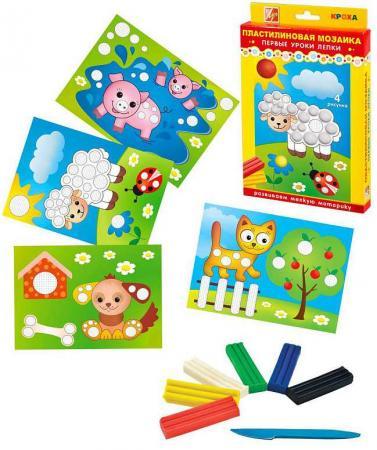 Набор пластилиновая мозаика N1 набор для лепки луч пластилиновая мозаика 1 овечка 10967