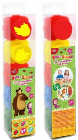 Пальчиковые краски Multi Art Маша и Медведь 5 цветов 1515-MM краски multiart пальчиковые краски с печатями маша и медведь