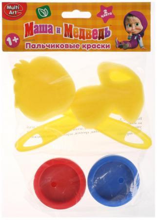 Пальчиковые краски Multi Art Маша и медведь 2 цвета CM2685-MM краски multiart пальчиковые краски с печатями маша и медведь