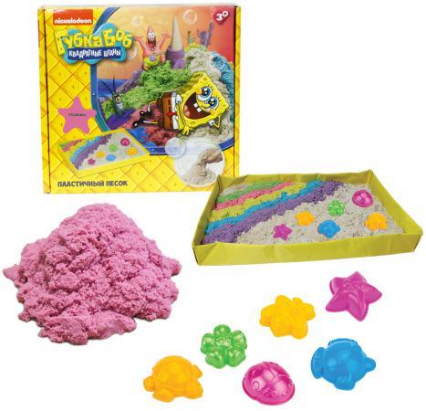 Купить 1toy Губка Боб, космический песок, розовый, 1 кг, набор песочница и формочки Т58200, Лепка и товары для творчества