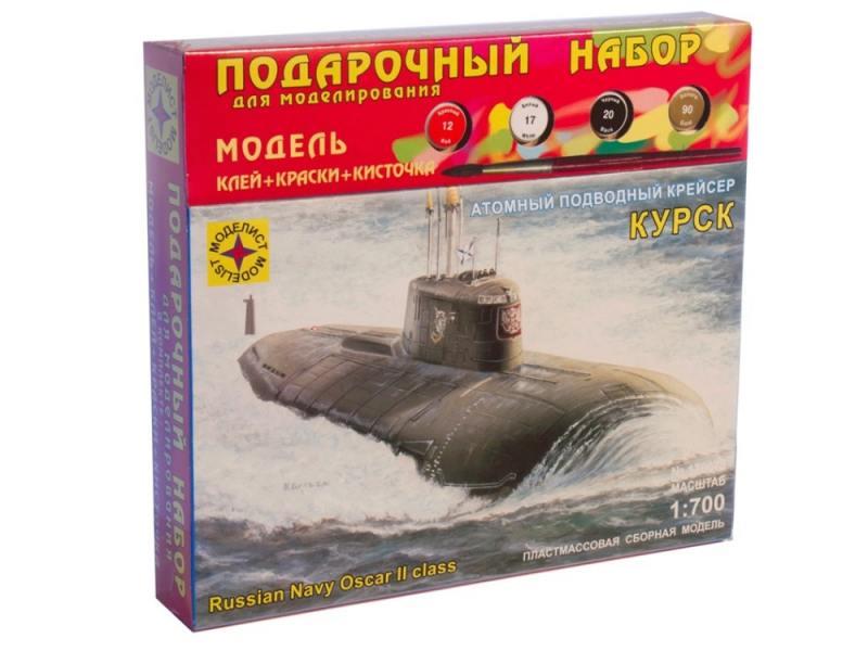 Корабль Моделист Атомный подводный крейсер Курск 1:700 ПН170075 корабль моделист санта мария колумба 1 150 115002