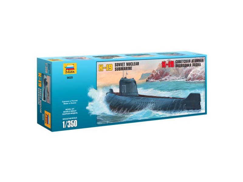 Подводная лодка Звезда К-19 1:350 9025 подводная лодка подводная лодка f003 угол клапан красоты