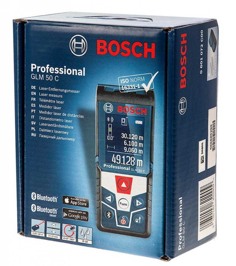 Лазерный дальномер Bosch GLM 50C лазерный дальномер bosch glm 50c