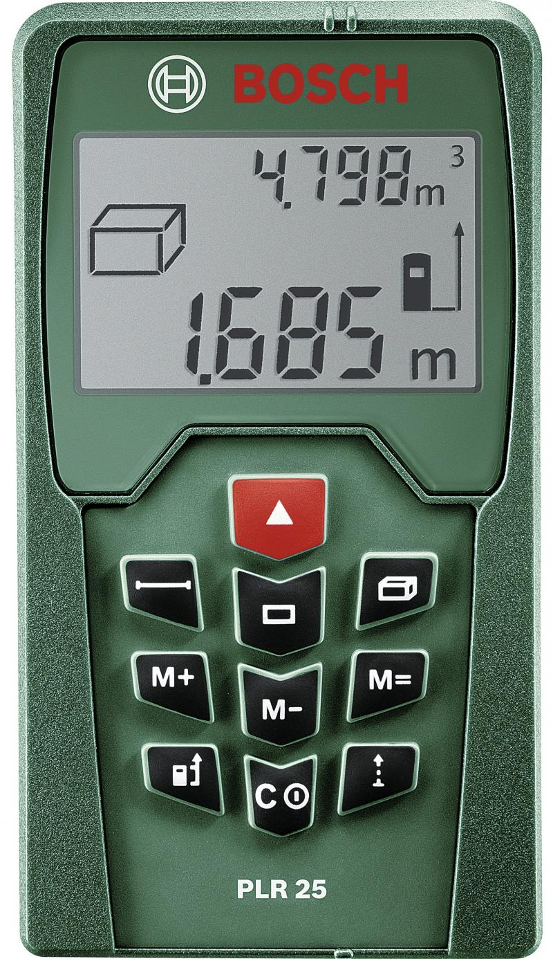 Лазерный дальномер Bosch PLR 25 лазерный дальномер bosch plr 30 c
