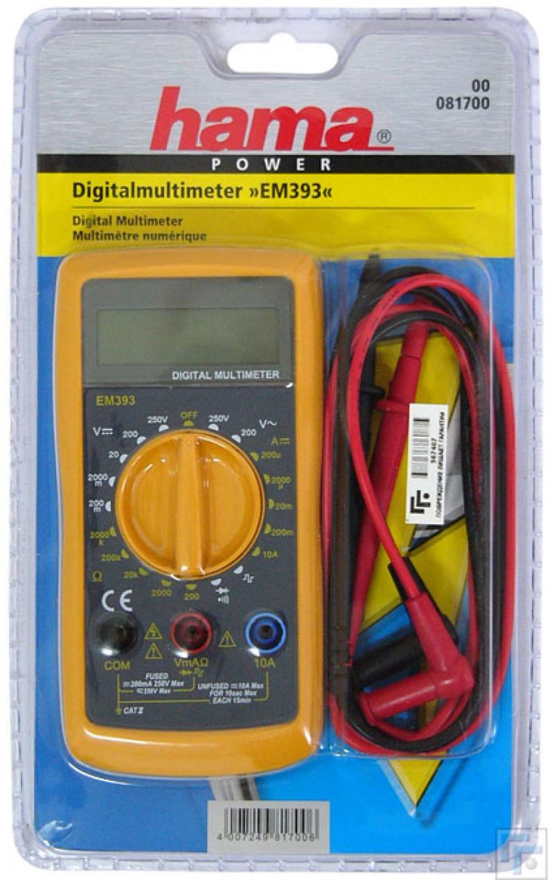 Мультиметр Hama EM393 Digital 81700
