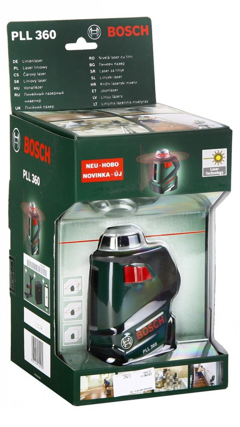 Лазерный нивелир Bosch PLL 360 нивелир bosch gll 3 80 06159940m0 зимний набор сумка bosch