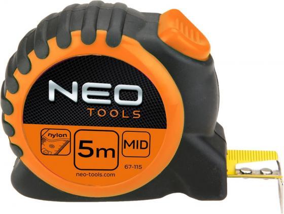 Рулетка NEO 67-115 5мx25мм стальная рулетка neo 67 173