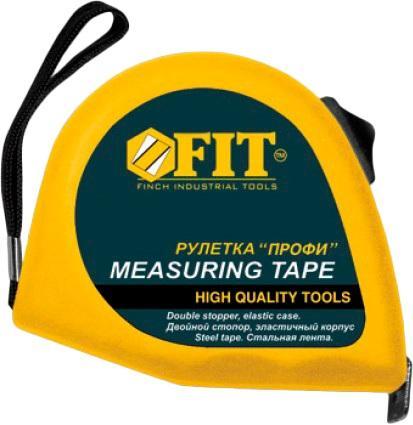 Рулетка Fit Профи 5мx19мм 17425 рулетка fit профи 5m x 19mm black yellow 17425