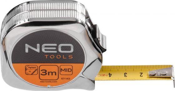 Рулетка NEO 67-145 5мx19мм стальная рулетка neo 67 173