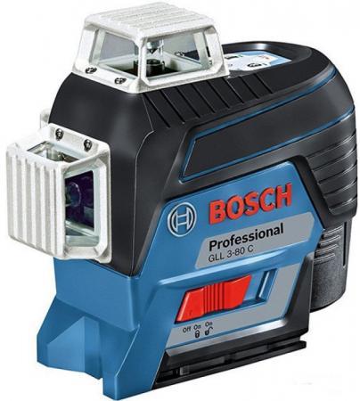 Уровень BOSCH GLL 3-80C+вкладка L-boxx (0.601.063.R00) 30м с приемником: 120м ±0.2мм/м уровень bosch gll 3 80c вкладка l boxx 0 601 063 r00