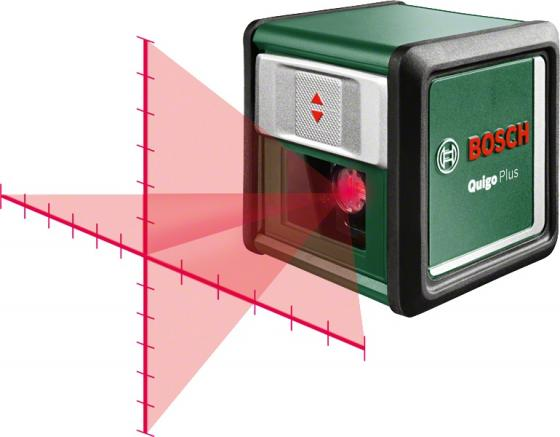 Уровень BOSCH Quigo Plus 0603663600 (0.603.663.600) лазерный нивелир 7м 0.8мм/м измерительный инструмент bosch quigo plus 0603663600