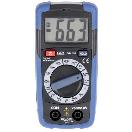 Мультиметр цифровой СЕМ DT-105 карманный тестер цифровой термогигрометр сем dt 321s 480359