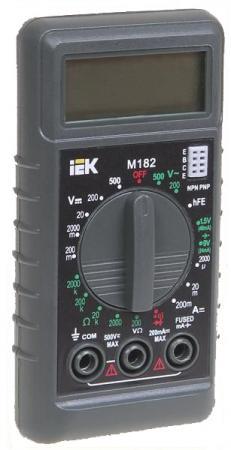 Мультиметр IEK Compact M182 цифровой мультиметр iek professional my61 tmd 5s 061