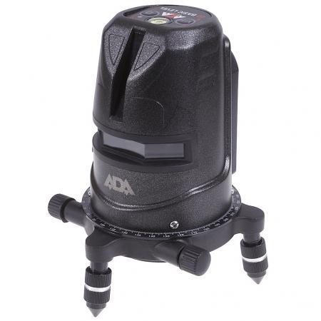 Нивелир лазерный ADA 2D Basic Level линейный крест/линия ±3 мм/10 м дальность 20(40)м + КЕЙС + ОЧКИ все цены