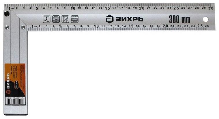 Угольник алюминиевый литой 300 мм Вихрь 73/11/3/3 угольник вихрь металлический 300 мм