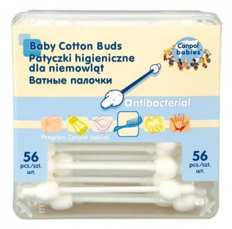 Фото Ватные палочки Canpol Гигиенические в коробке 56 шт. 3\111