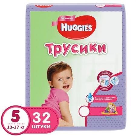 HUGGIES Подгузники-трусики Annapurna Размер 5 13-17кг 32шт для девочек хаггис трусики little walkers 5 13 17кг 32шт