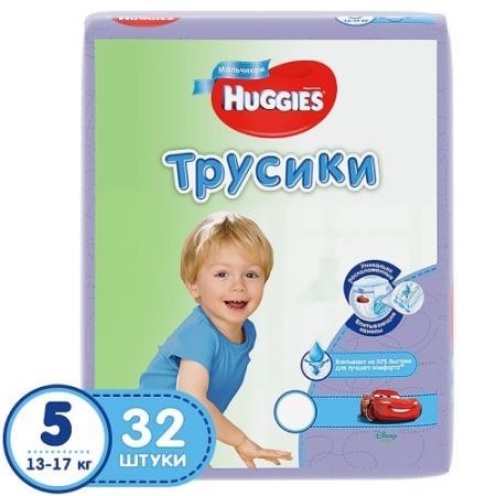 HUGGIES Подгузники-трусики Annapurna Размер 5 13-17кг 32шт для мальчиков хаггис трусики little walkers 5 13 17кг 32шт