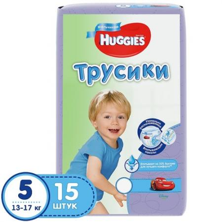 HUGGIES Подгузники-трусики Annapurna Размер 5 13-17кг 15шт для мальчиков хаггис трусики little walkers 5 13 17кг 32шт