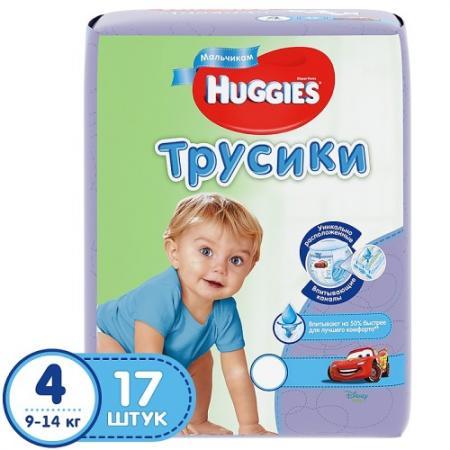 HUGGIES Подгузники-трусики Литтл Волкерс Размер 4 9-14кг 17шт для мальчиков подгузники greenty 4 9 14кг 44шт grep 4m