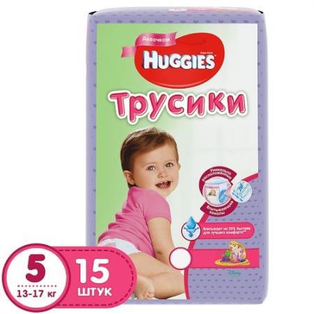 HUGGIES Подгузники-трусики Annapurna Размер 5 13-17кг 15шт для девочек huggies трусики подгузники huggies 5 для девочек mega pack 13 17 кг 48 шт