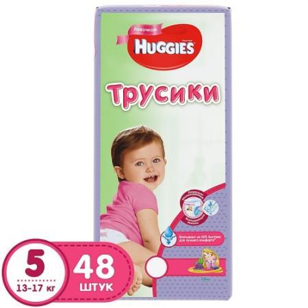 HUGGIES Подгузники-трусики Литтл Волкерс Размер 5 13-17кг 48шт для девочек huggies трусики подгузники huggies 5 для девочек mega pack 13 17 кг 48 шт